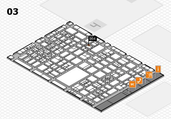boot 2018 hall map (Hall 3): stand B64