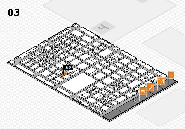 boot 2018 hall map (Hall 3): stand G58