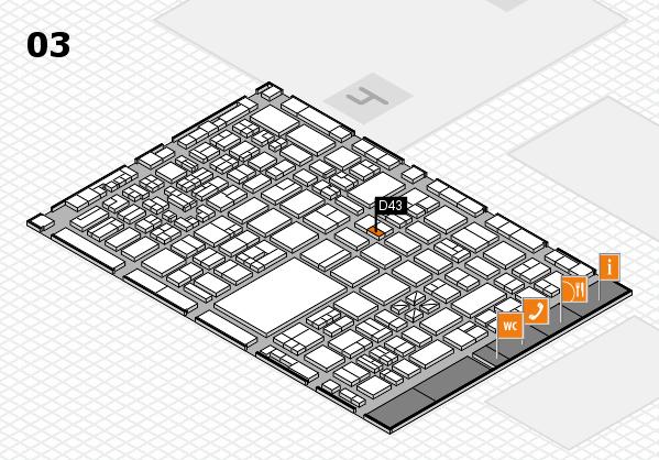 boot 2018 hall map (Hall 3): stand D43