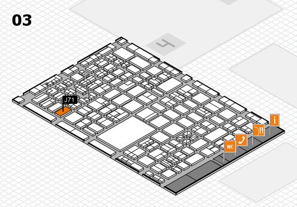 boot 2018 hall map (Hall 3): stand J71