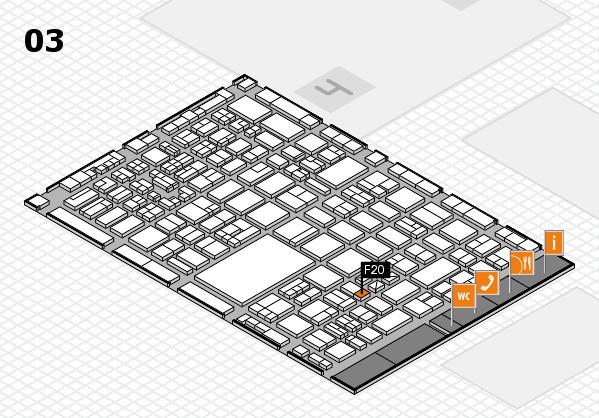 boot 2018 hall map (Hall 3): stand F20