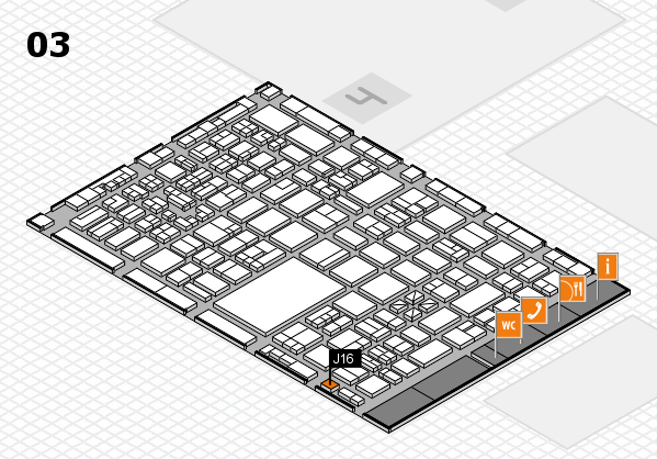 boot 2018 hall map (Hall 3): stand J16