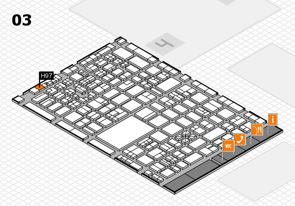 boot 2018 hall map (Hall 3): stand H97