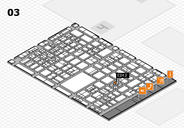 boot 2018 hall map (Hall 3): stand E24.2