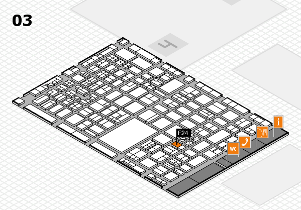 boot 2018 hall map (Hall 3): stand F24