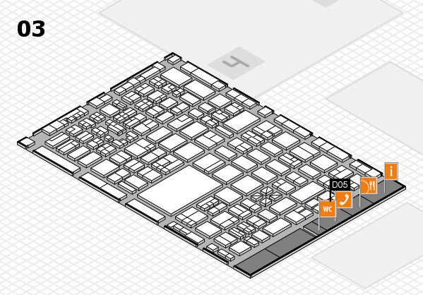 boot 2018 hall map (Hall 3): stand D05