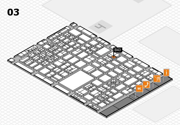 boot 2018 hall map (Hall 3): stand B43