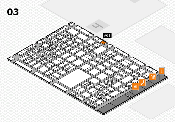 boot 2018 hall map (Hall 3): stand A61