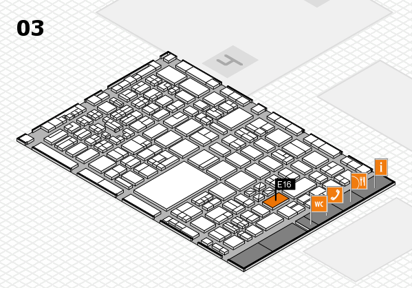 boot 2018 hall map (Hall 3): stand E16