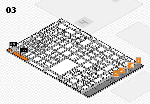 boot 2018 hall map (Hall 3): stand J72, stand J94