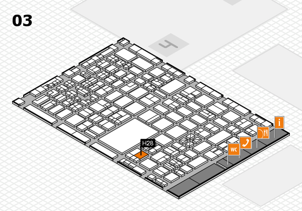 boot 2018 hall map (Hall 3): stand H28