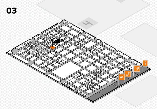 boot 2018 hall map (Hall 3): stand F71