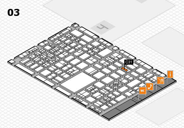 boot 2018 hall map (Hall 3): stand C31