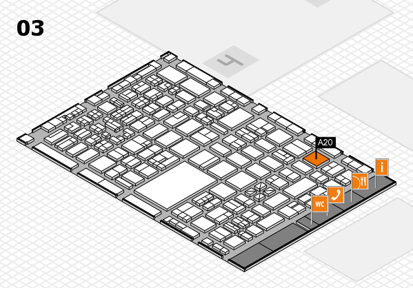 boot 2018 hall map (Hall 3): stand A20