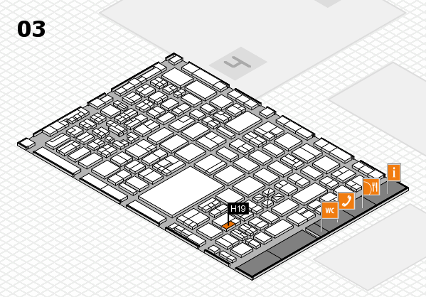 boot 2018 hall map (Hall 3): stand H19