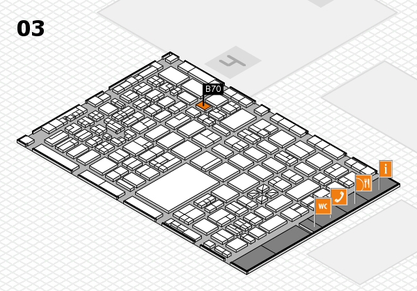 boot 2018 hall map (Hall 3): stand B70