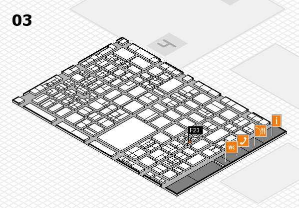 boot 2018 hall map (Hall 3): stand F23