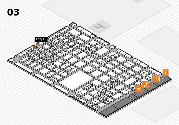 boot 2018 hall map (Hall 3): stand F90.3