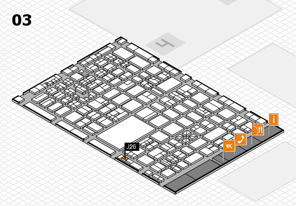 boot 2018 hall map (Hall 3): stand J26