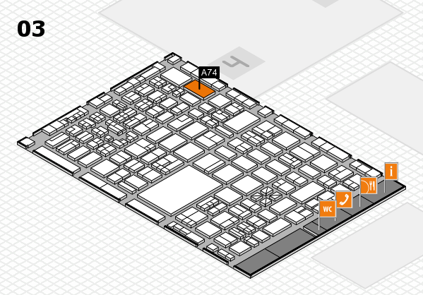 boot 2018 hall map (Hall 3): stand A74