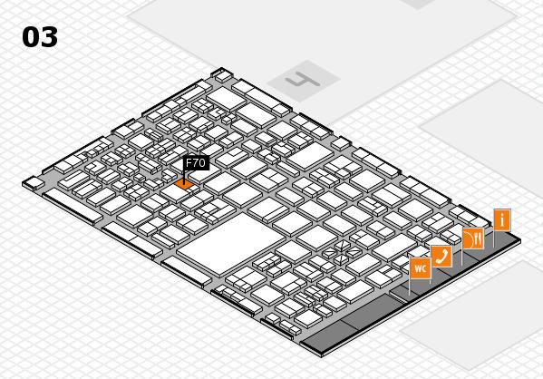 boot 2018 hall map (Hall 3): stand F70