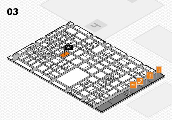 boot 2018 hall map (Hall 3): stand F69