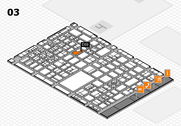 boot 2018 hall map (Hall 3): stand E69