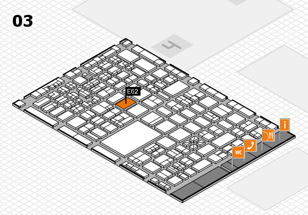 boot 2018 hall map (Hall 3): stand E62