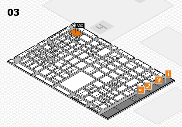 boot 2018 hall map (Hall 3): stand A90