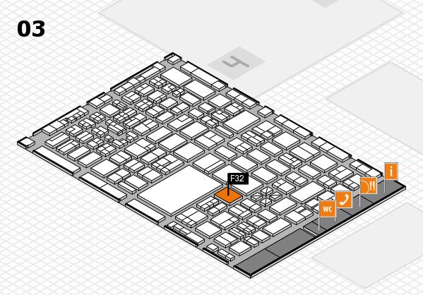 boot 2018 hall map (Hall 3): stand F32