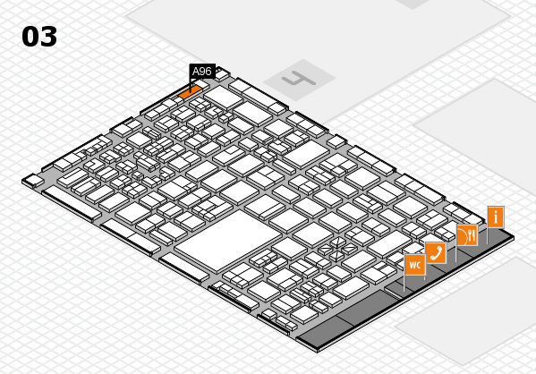 boot 2018 hall map (Hall 3): stand A96