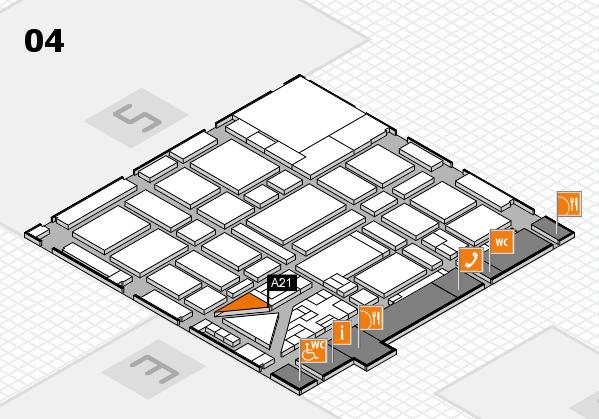 boot 2018 hall map (Hall 4): stand A21