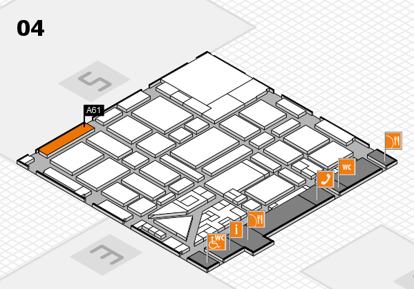 boot 2018 hall map (Hall 4): stand A61