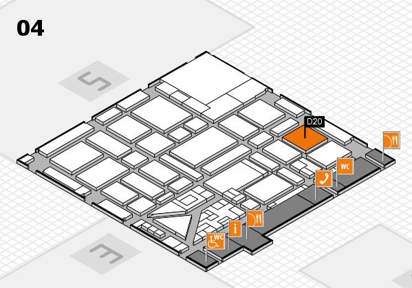 boot 2018 hall map (Hall 4): stand D20
