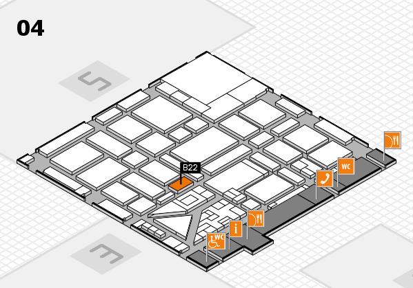 boot 2018 hall map (Hall 4): stand B22