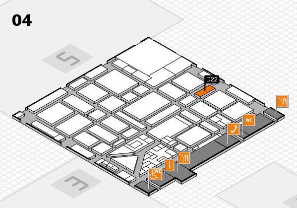boot 2018 hall map (Hall 4): stand D22