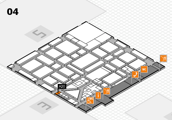 boot 2018 hall map (Hall 4): stand A20