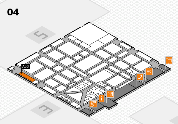 boot 2018 hall map (Hall 4): stand A56