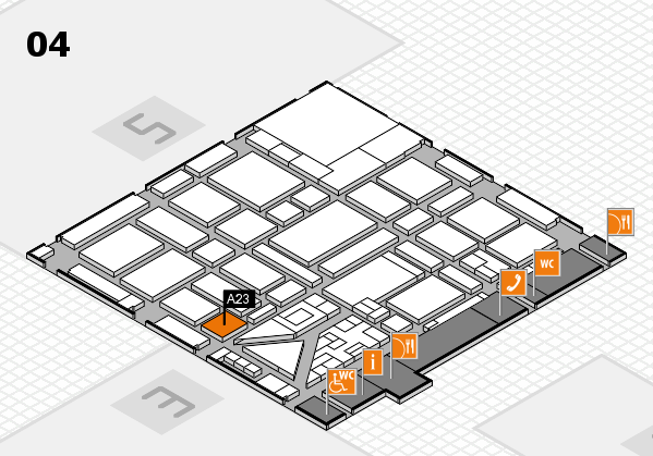 boot 2018 hall map (Hall 4): stand A23.1