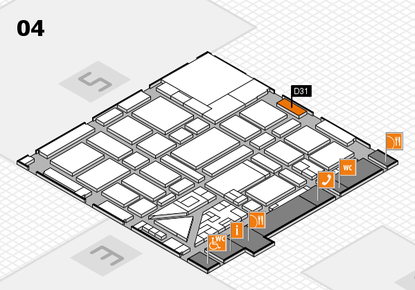 boot 2018 hall map (Hall 4): stand D31