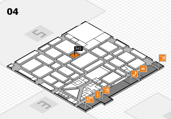 boot 2018 hall map (Hall 4): stand B43