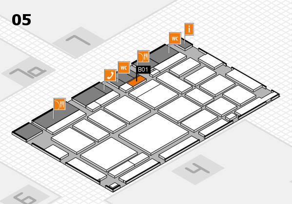 boot 2018 hall map (Hall 5): stand B01