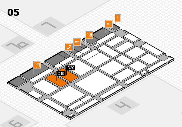 boot 2018 hall map (Hall 5): stand D19, stand D20