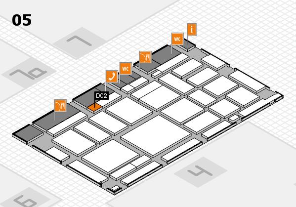 boot 2018 hall map (Hall 5): stand D02
