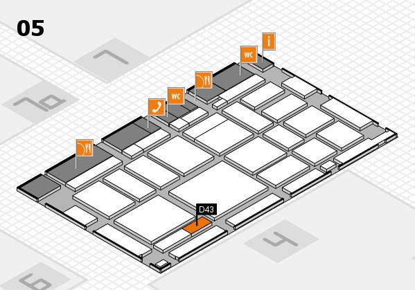 boot 2018 hall map (Hall 5): stand D43