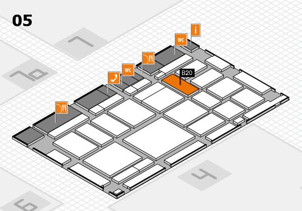 boot 2018 hall map (Hall 5): stand B20