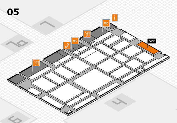 boot 2018 hall map (Hall 5): stand A22