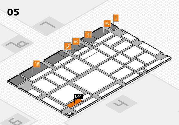 boot 2018 hall map (Hall 5): stand E44