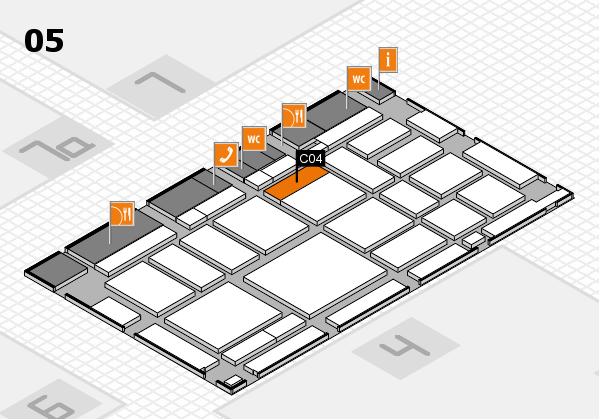 boot 2018 hall map (Hall 5): stand C04