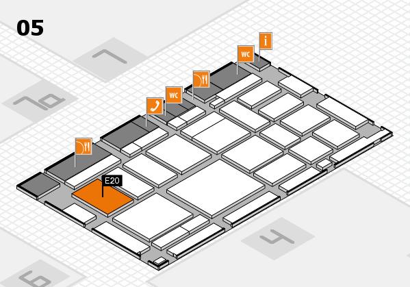 boot 2018 hall map (Hall 5): stand E20